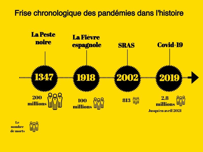 frise pandémies histoire
