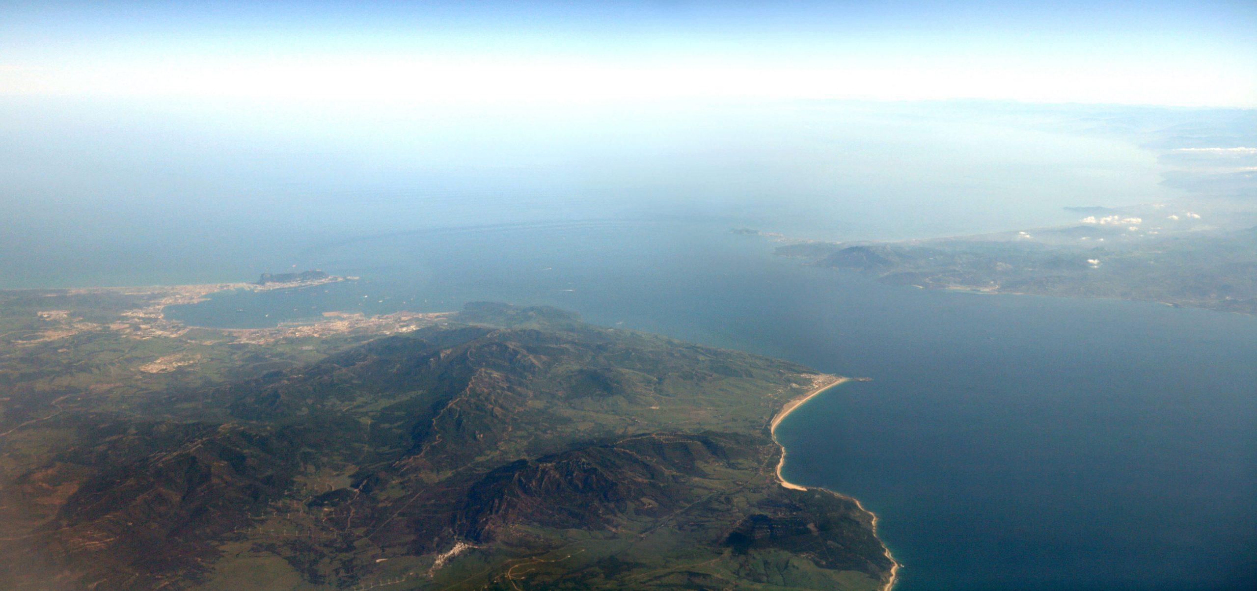 Vue panoramique du détroit de Gibraltar