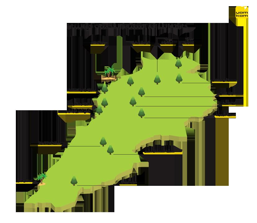 خريطة المحميات في لبنان