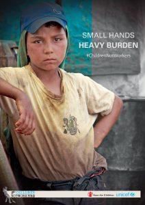 Travail de mineur, affiche de l'UNICEF